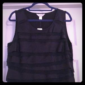 "Christopher & Banks Navy ""Dressy"" Tank"
